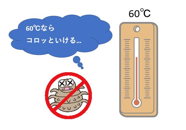 ダニと温度計